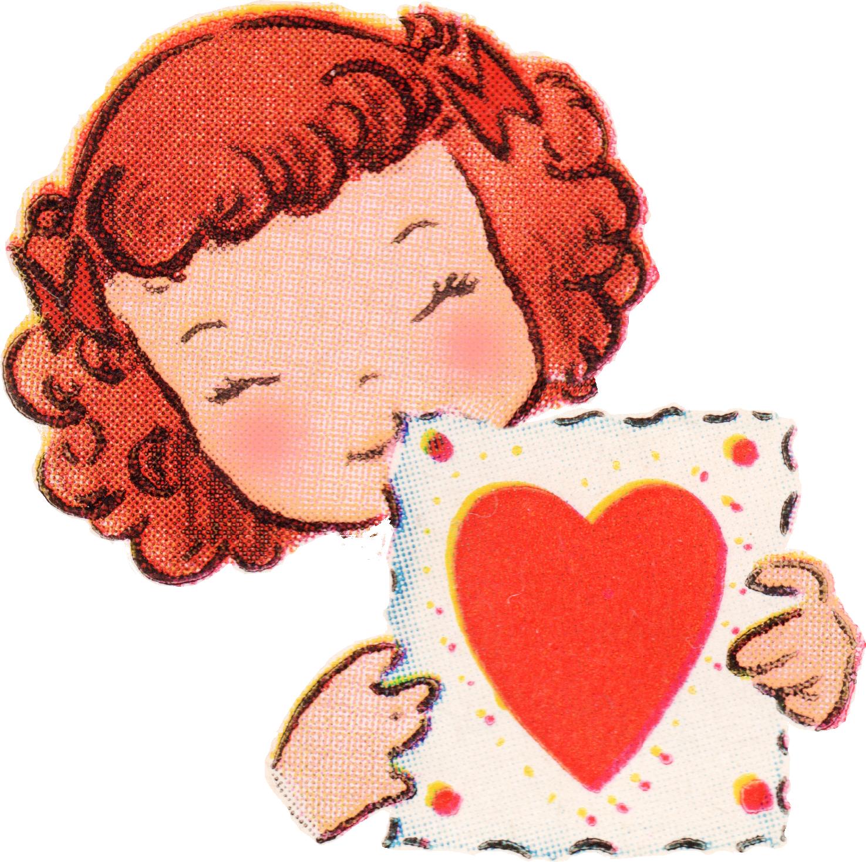 Valentine clipart friend. Free vintage valentines day