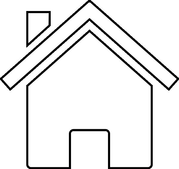 Home clipart outline. White house clip art