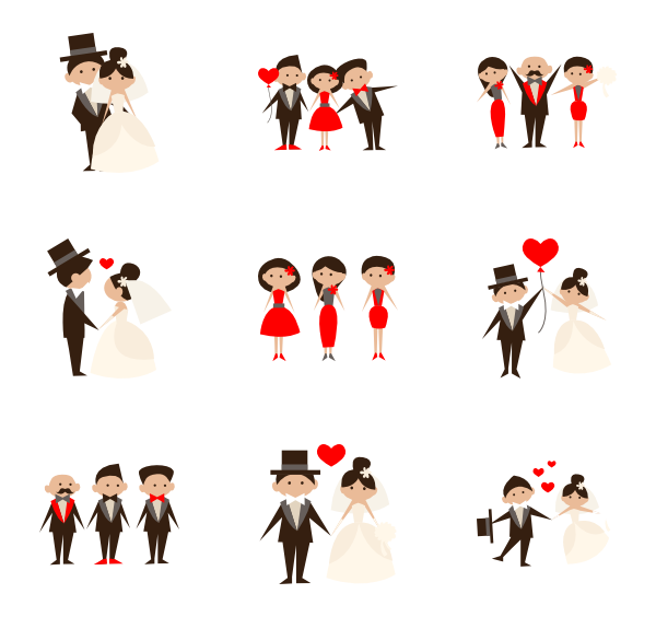 Clipart wedding icon. Icons free vector people