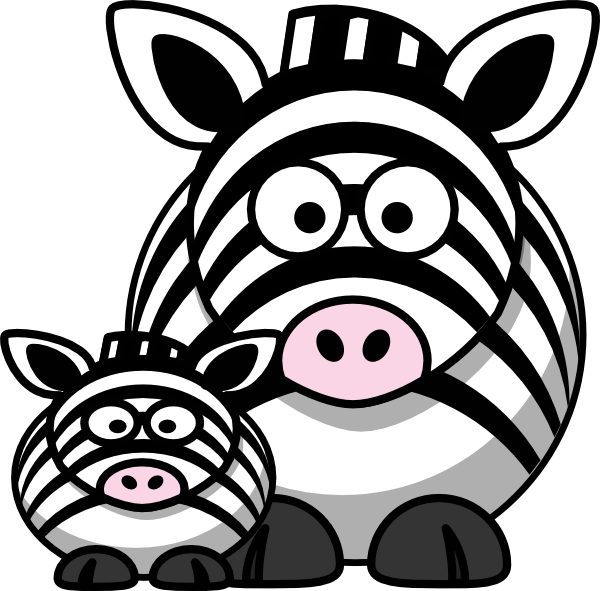 Clipart mom outline. Zebra clip art at