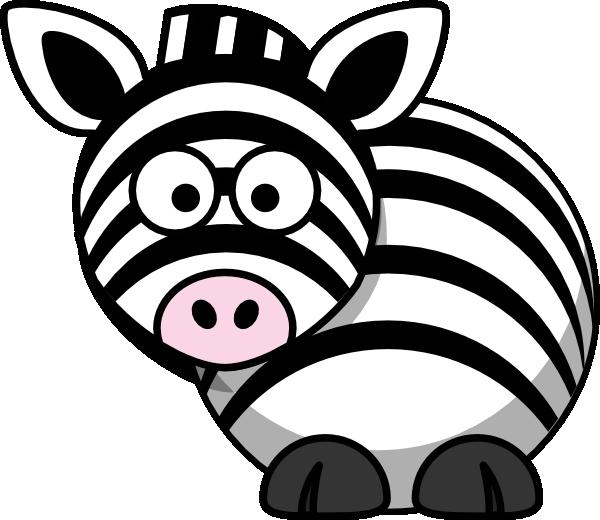 Clip art at clker. Clipart zebra drawn