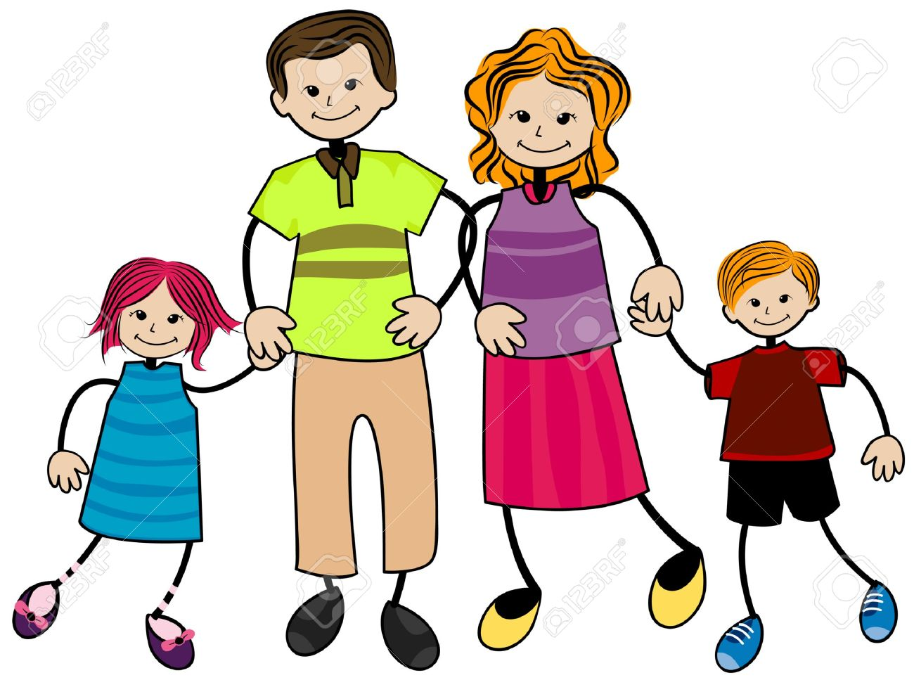 Clip art free printable. Family clipart