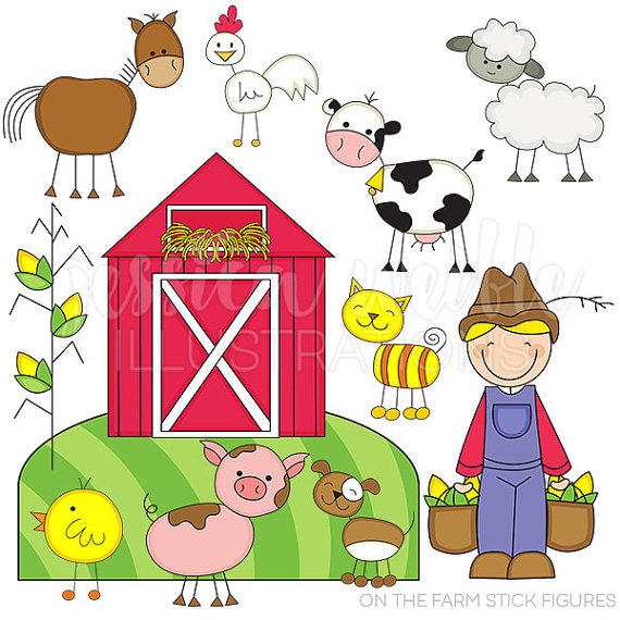 On the stick figures. Clipart farm