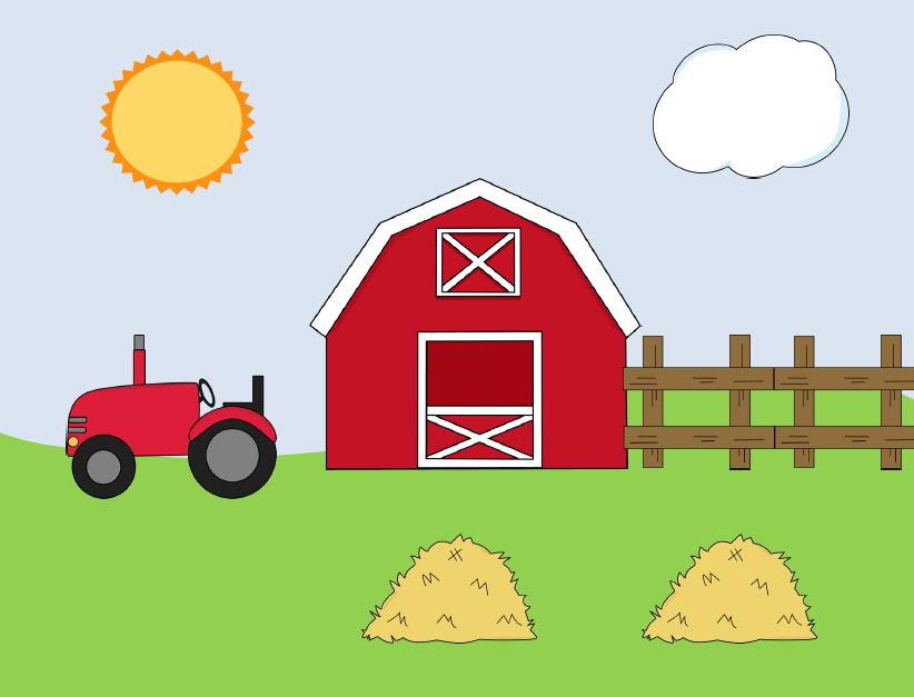 Clipart farm. Scene