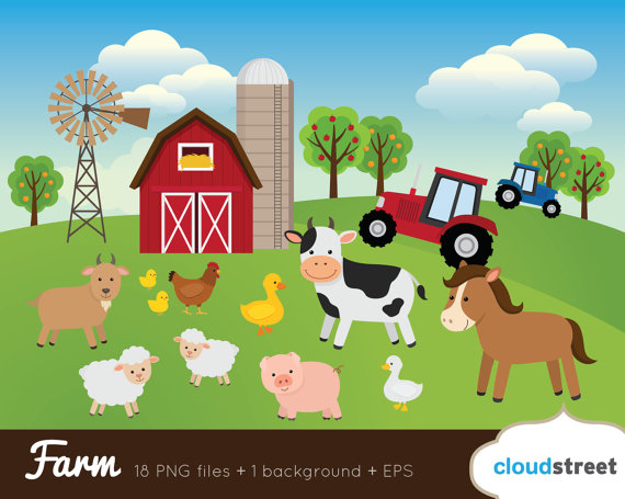 Buy get free animal. Clipart farm