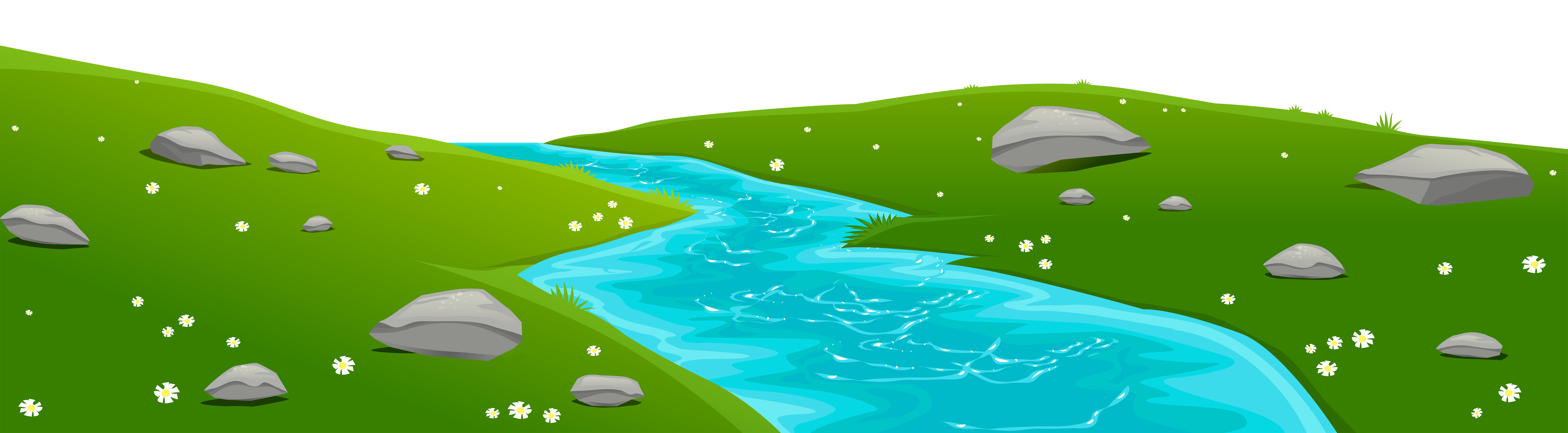 River cover transparent png. Clipart grass ground