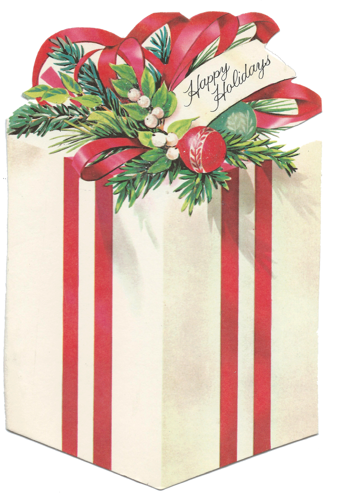 Clipart farm christmas. Vintage present gift package