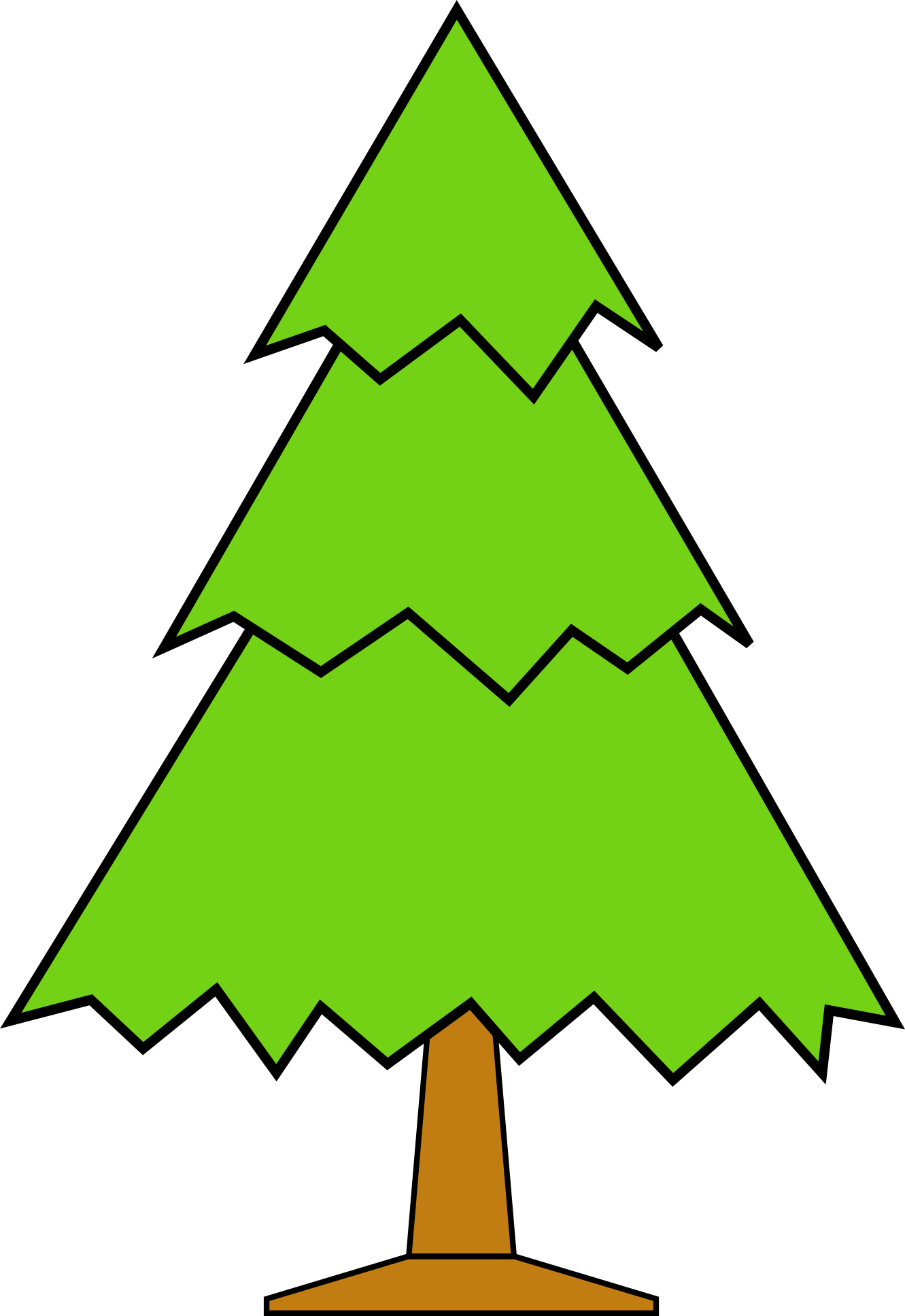Clipart trees face.  collection of plain