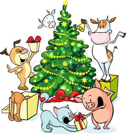 Tree clip art backgrounds. Clipart farm christmas
