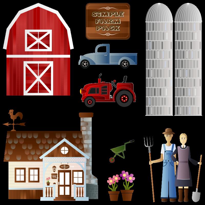 Simple farm pack theme. Farming clipart farmers market