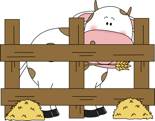 Cows clipart barn. Farm cow clip art