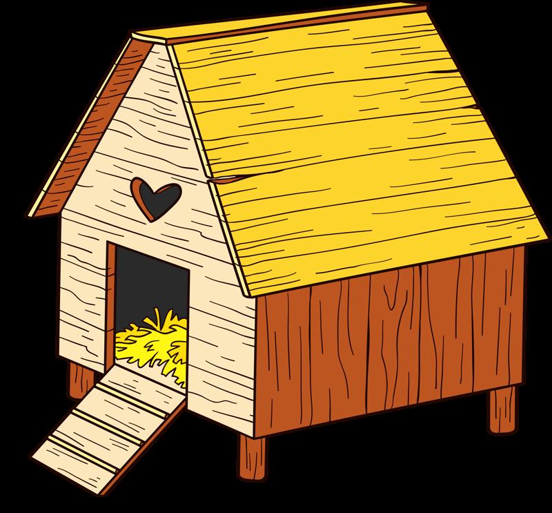 Duck cute farm cartoon. Doghouse clipart bird house