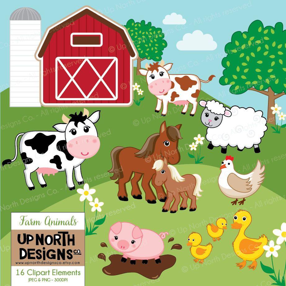 Farmers clipart livestock farming. Farm animals cow horse