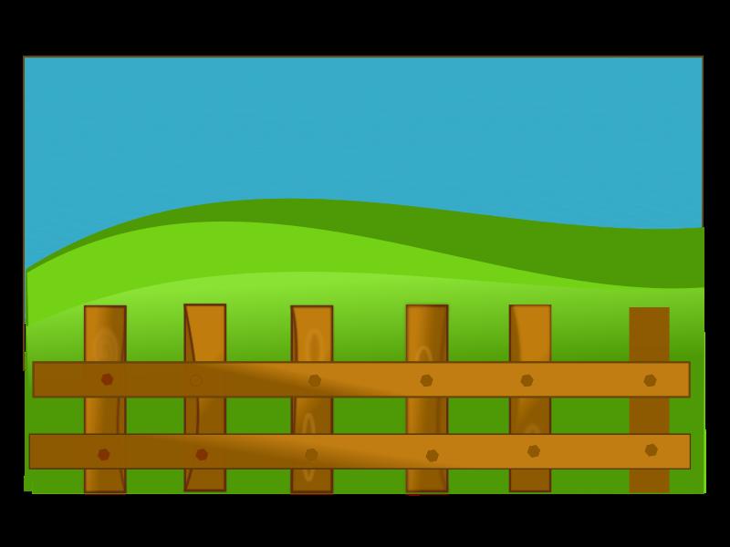 Field clipart fence clipart. Netalloy farm medium image