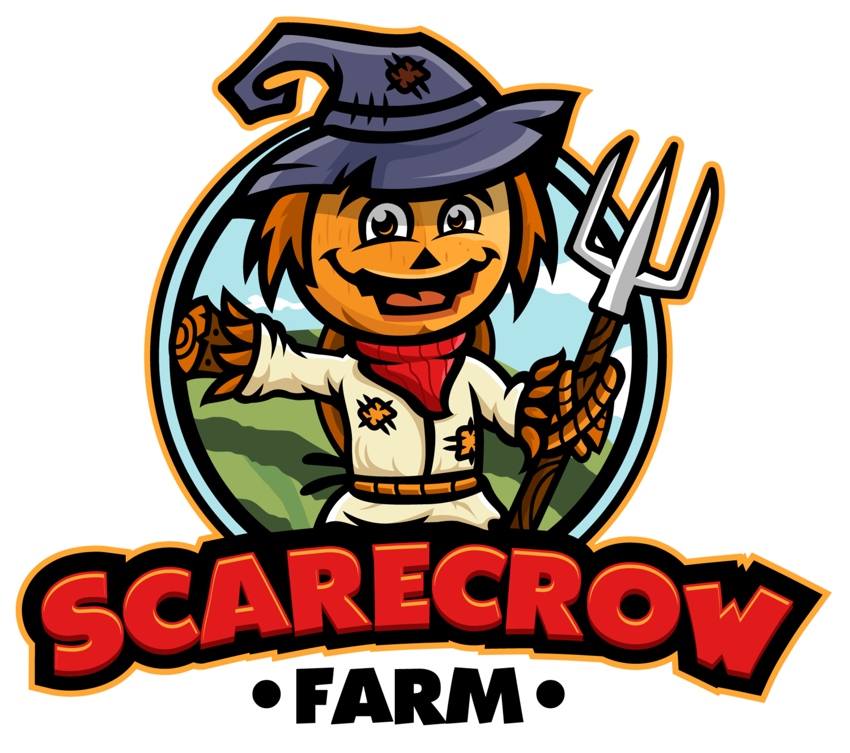 School groups scarecrow. Field clipart small farm
