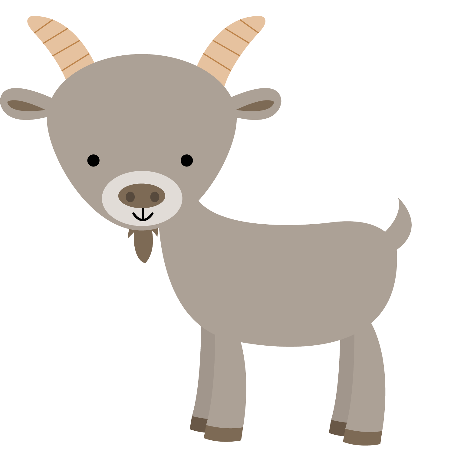 Kid awesome farm animals. Goat clipart kambing