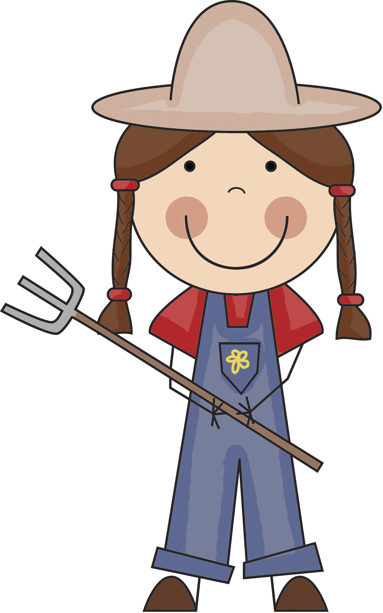 Mickey clipart farmer.  collection of girl