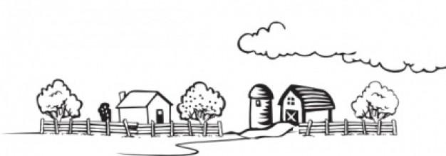 Top clip free image. Clipart farm line art
