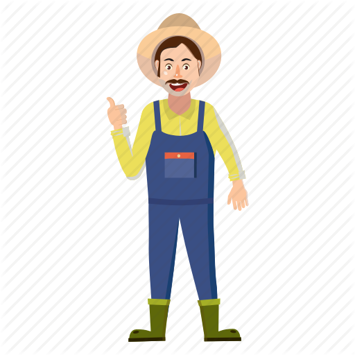 Farm clipart man. Child cartoon agriculture illustration