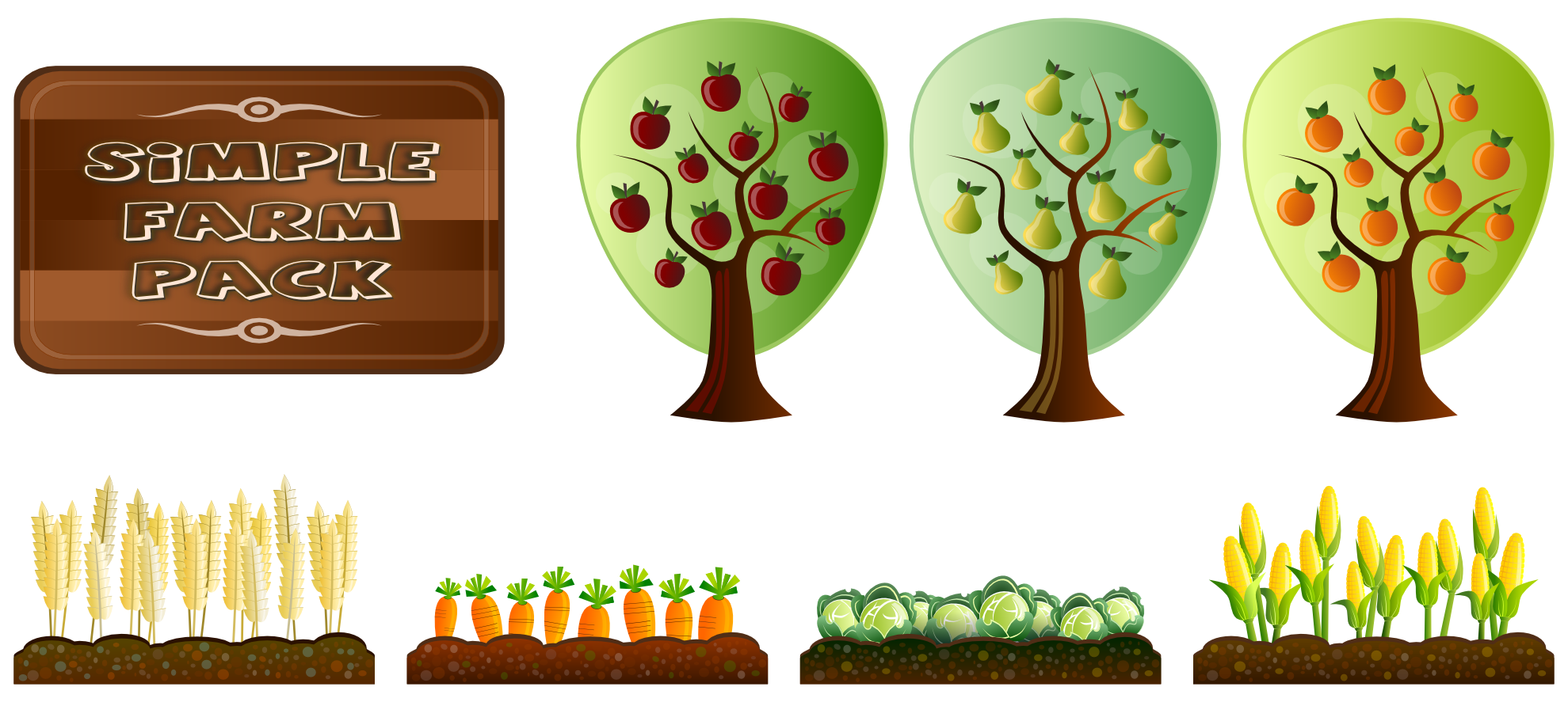 Crops drawing at getdrawings. Clipart tree corn