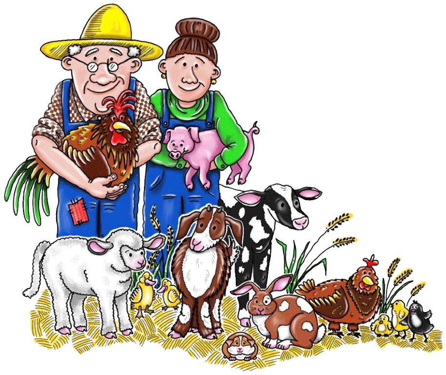 Farmers clipart old farmer. Mcdonalds farm rainbow valley