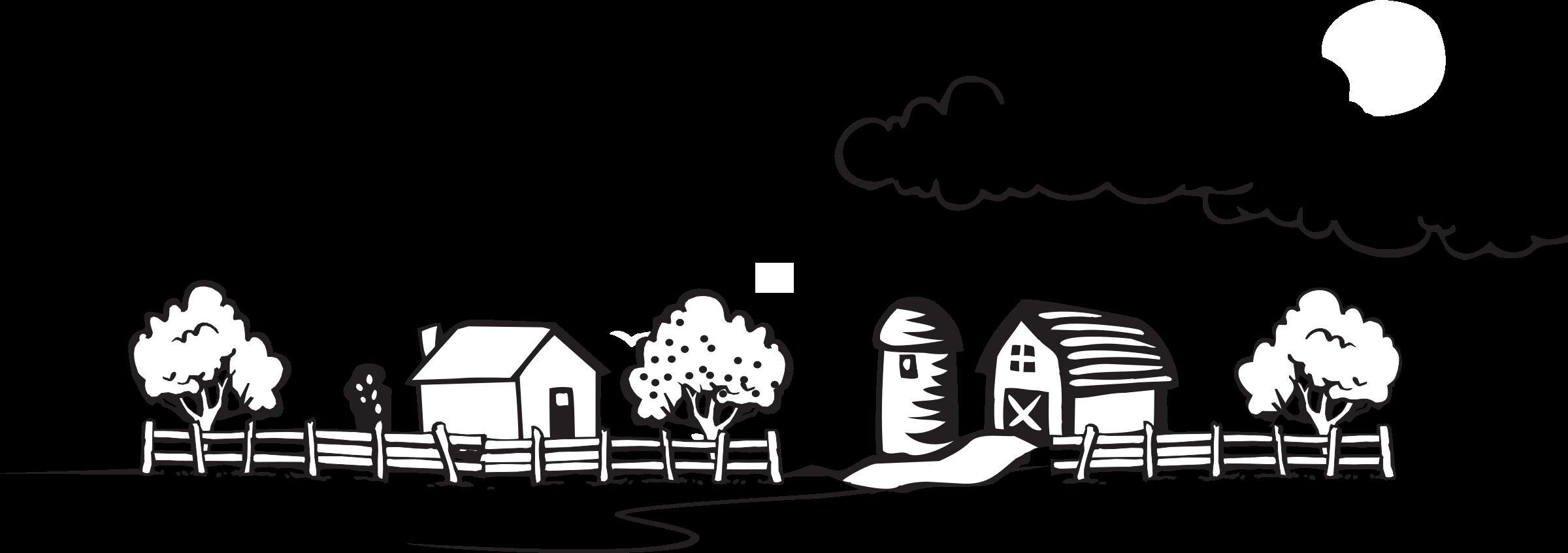 collection of coloring. Farmhouse clipart farm landscape