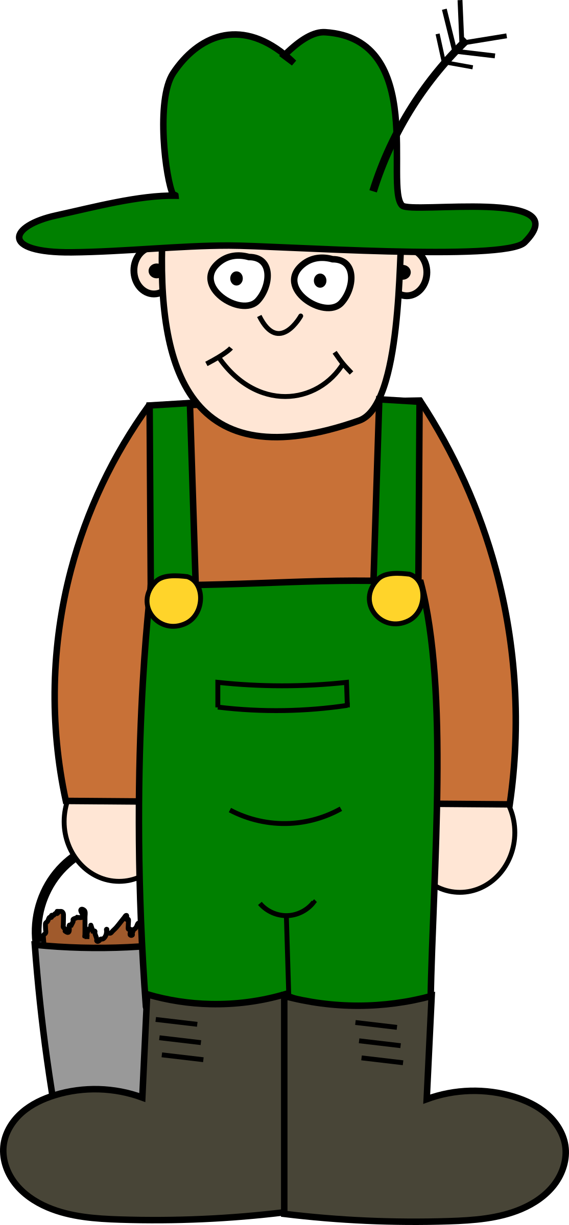 Picture clipart farmer. Cartoon big image png