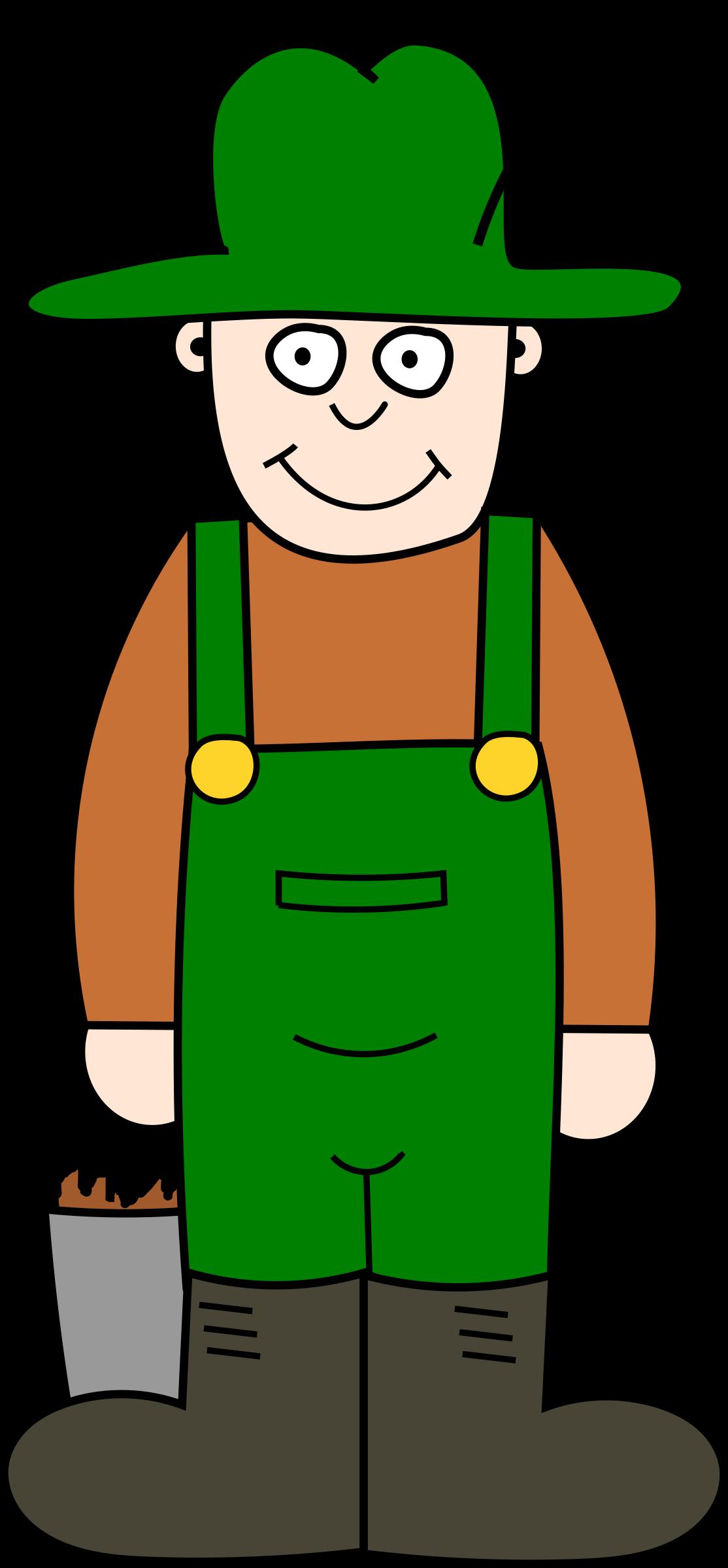 Cartoon farmer big image. Farmers clipart hat