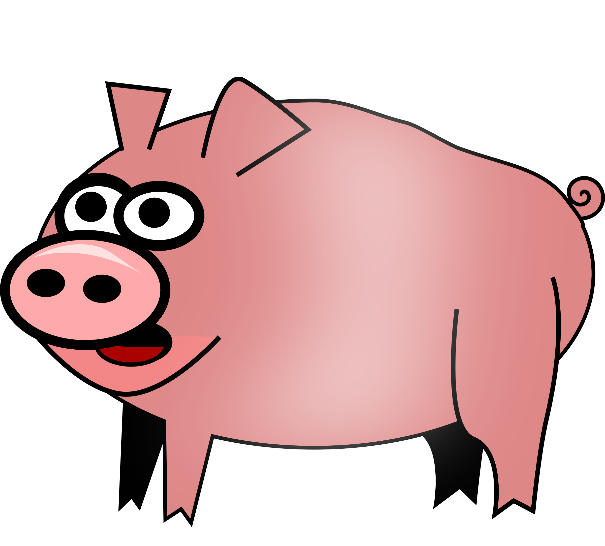 Clipart swimming pig.