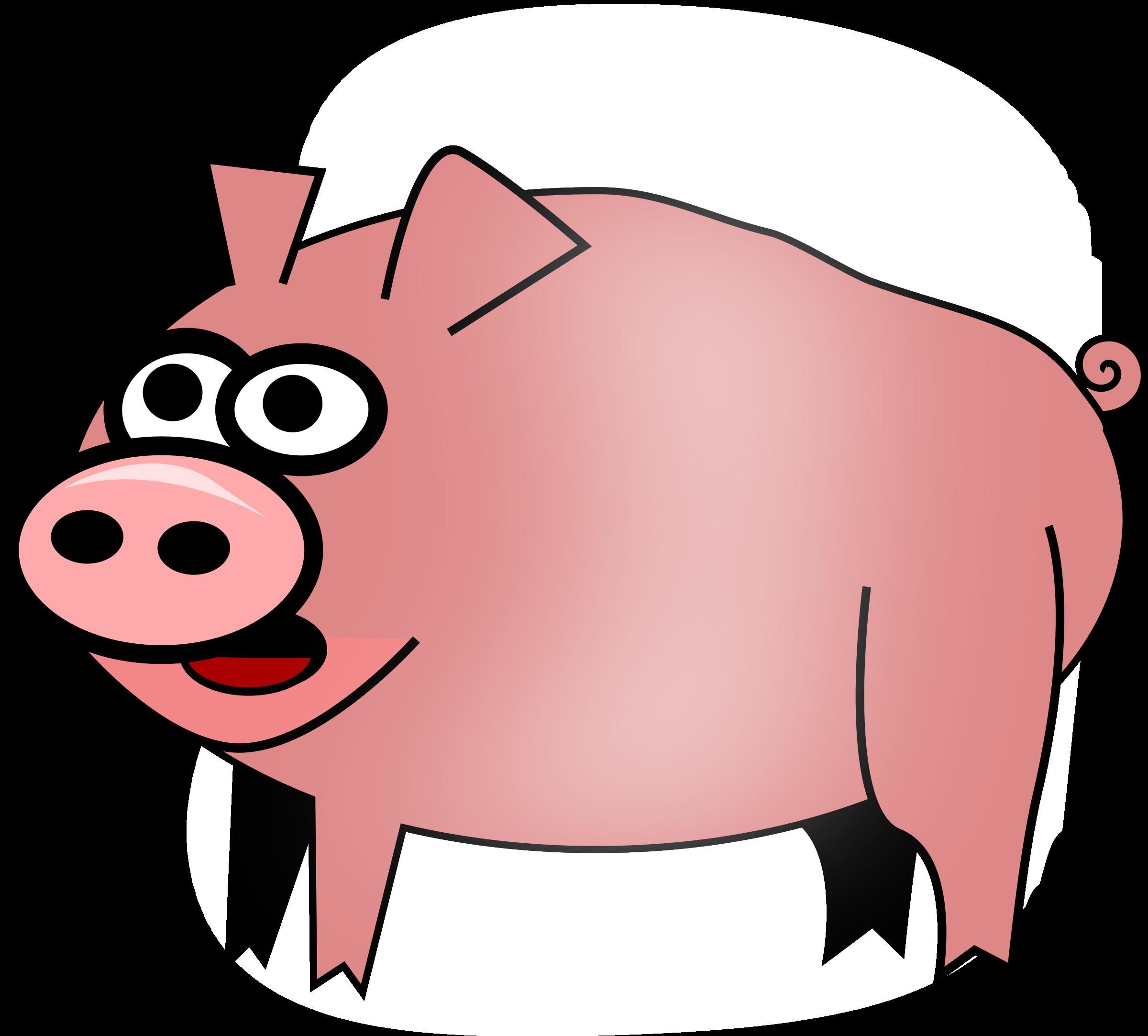 Pig clipart summer.