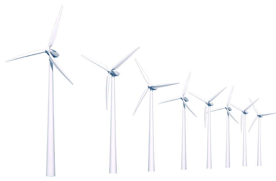 Farm clipart windmill. Row of wind turbines