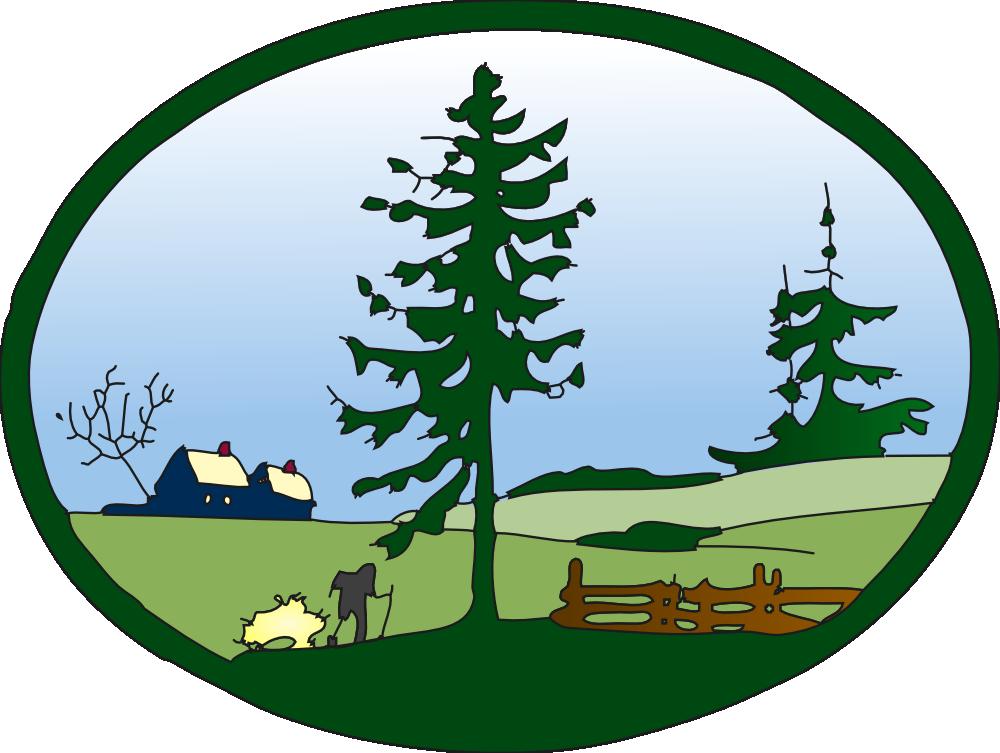 Onlinelabels clip art scene. Clipart park country park