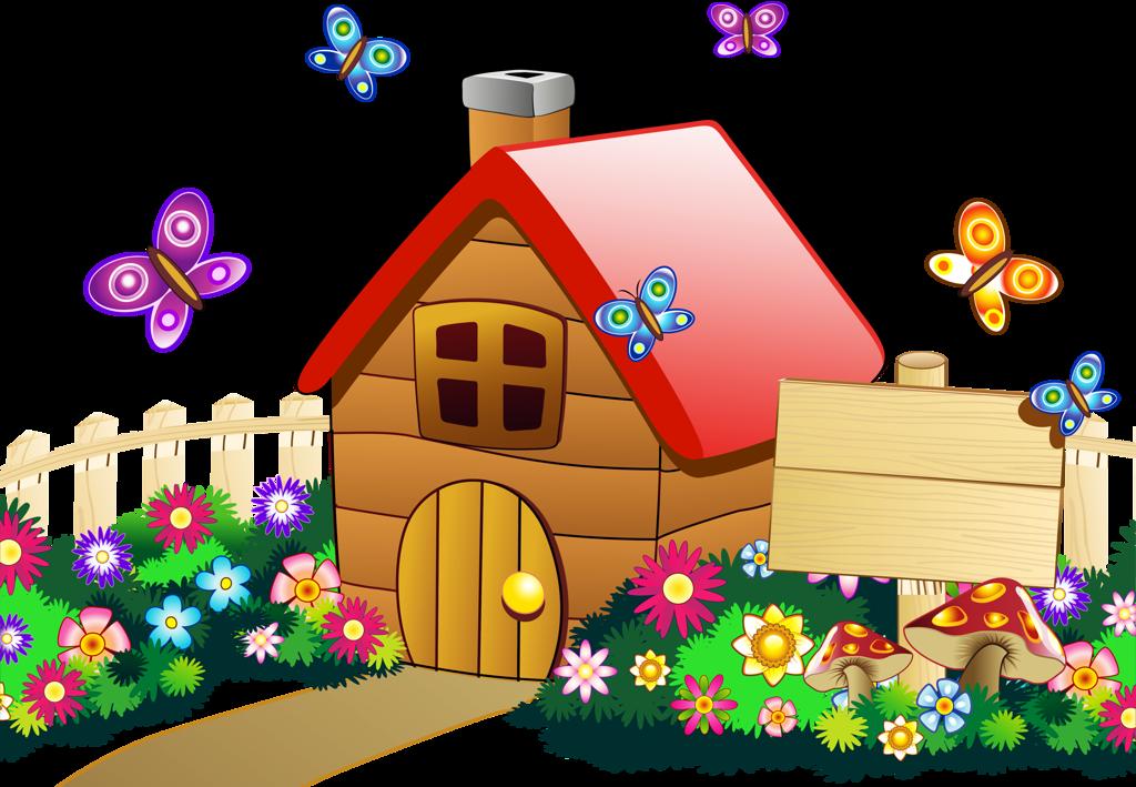farmhouse clipart village school