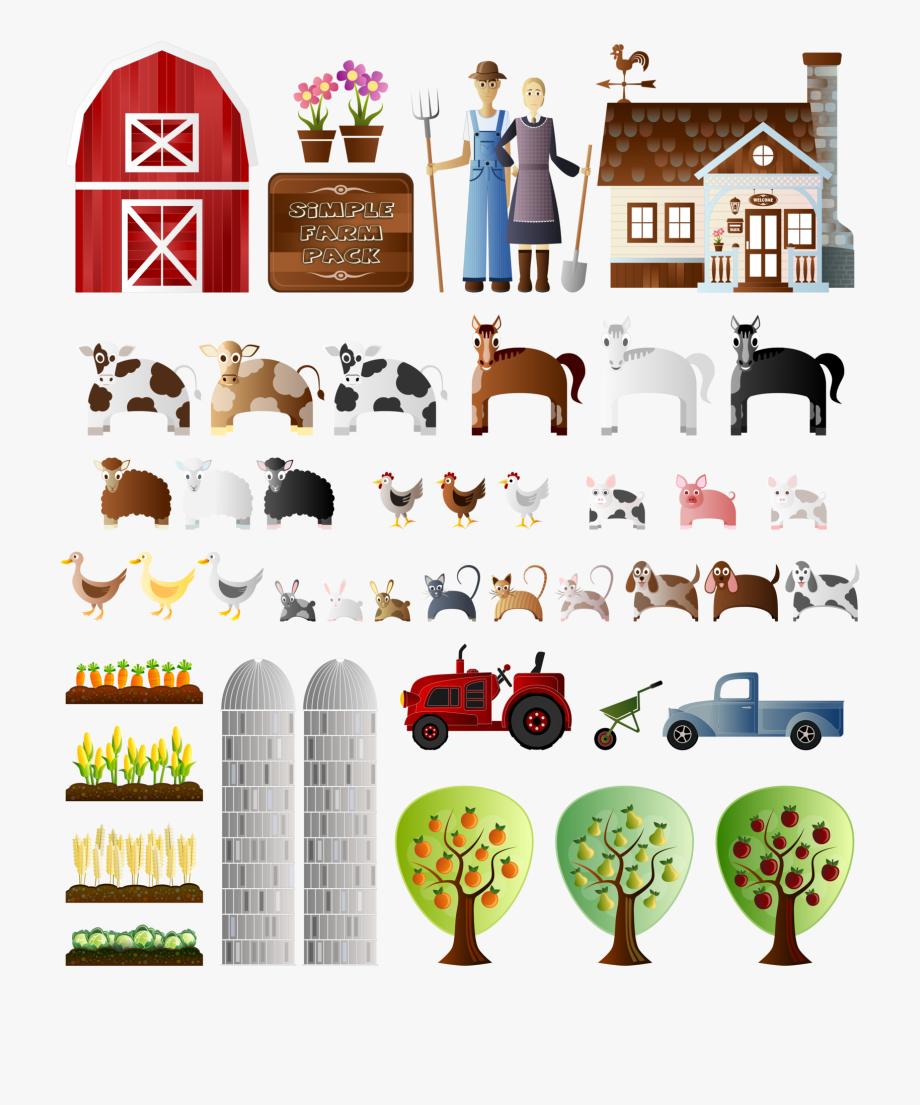 Farm clipart simple. By viscious speed