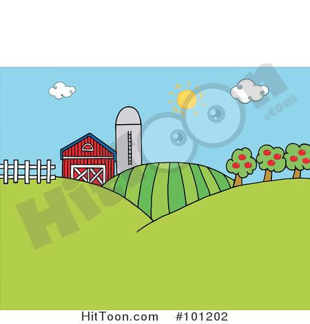 Farm clipart sun. The above a silo