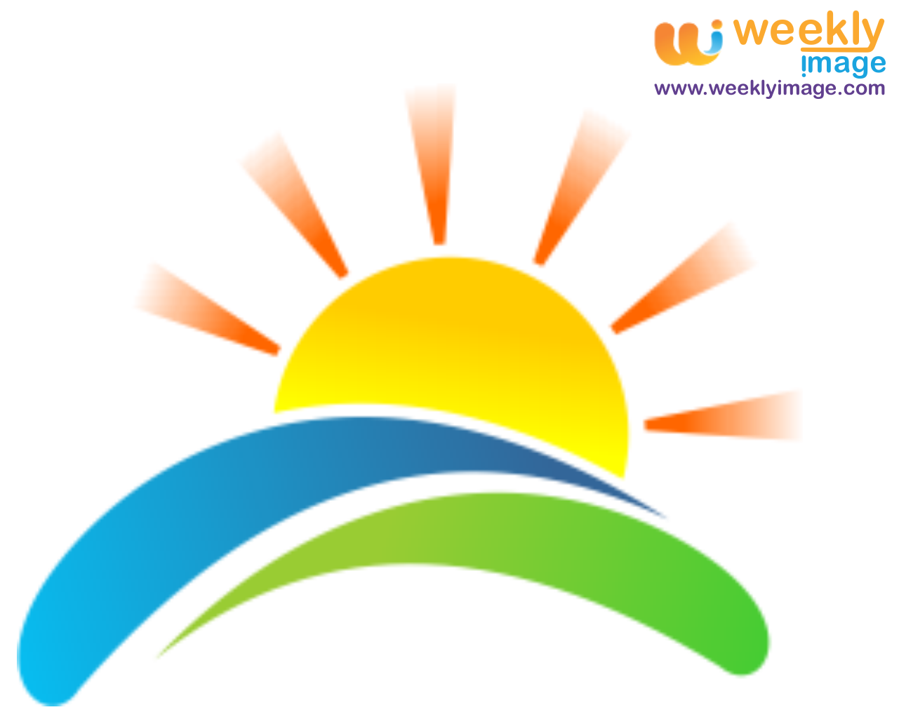 Sunset clipart sunrise breakfast. Vector logo picture perfect