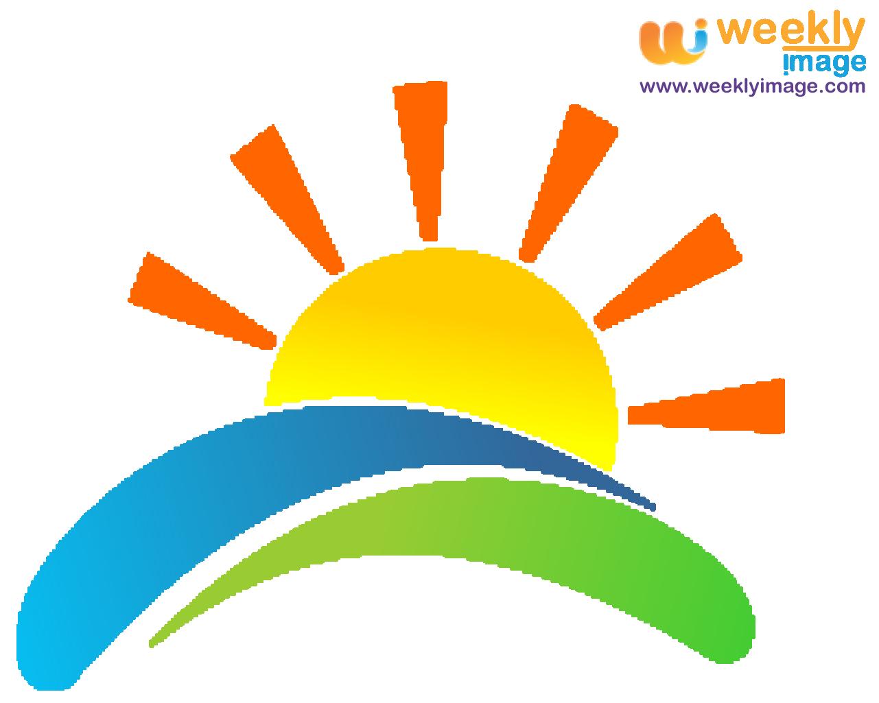 Vector logo picture perfect. Clipart farm sunrise