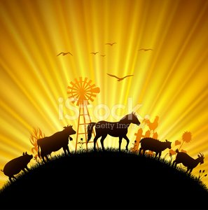 Farm clipart sunset. Premium clipartlogo com