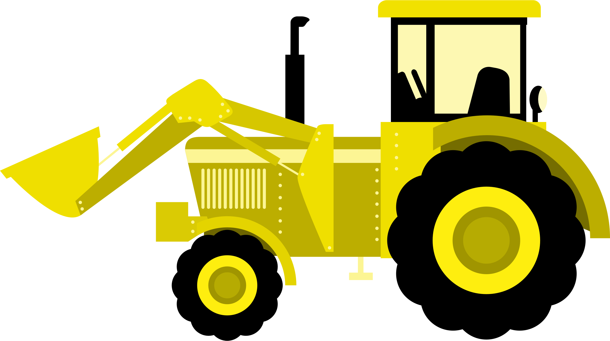 Construction Clipart Tractor Construction Tractor Transparent