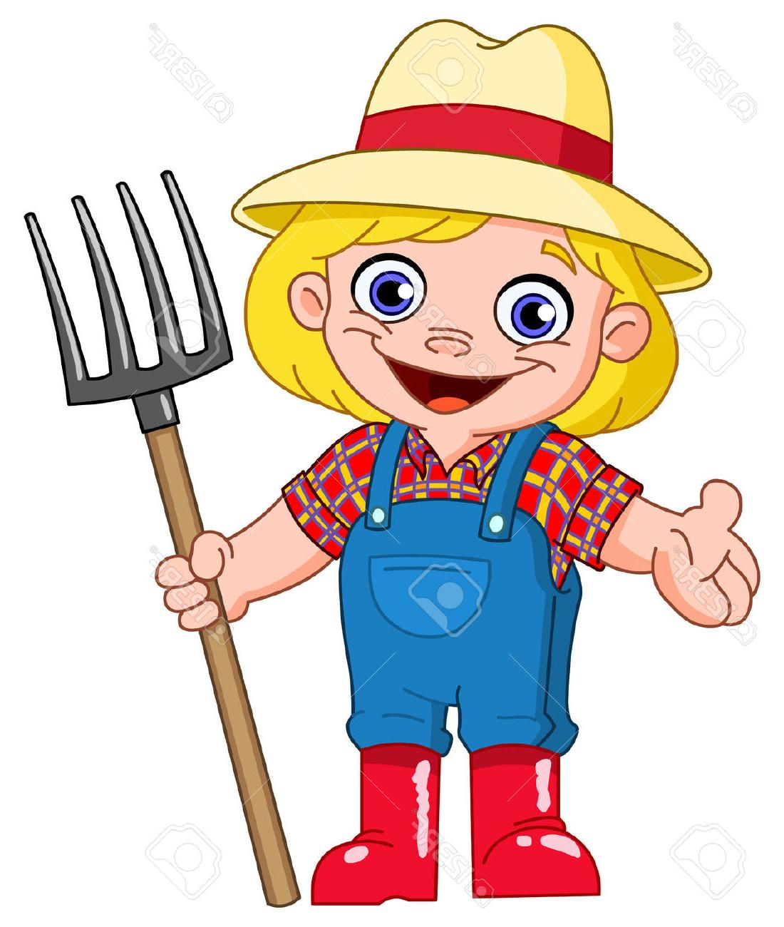 Top old cartoon vector. Farmers clipart girl farmer