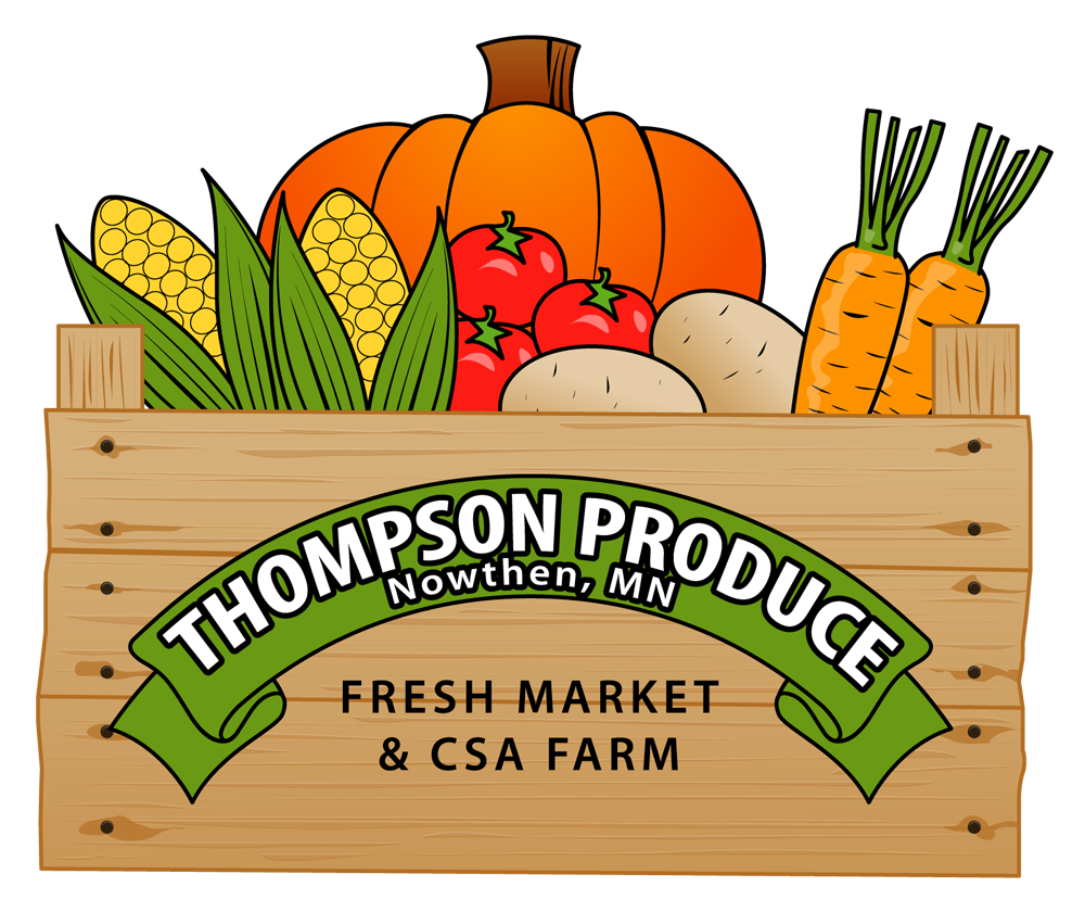 Thompson produce logo. Clipart food agriculture