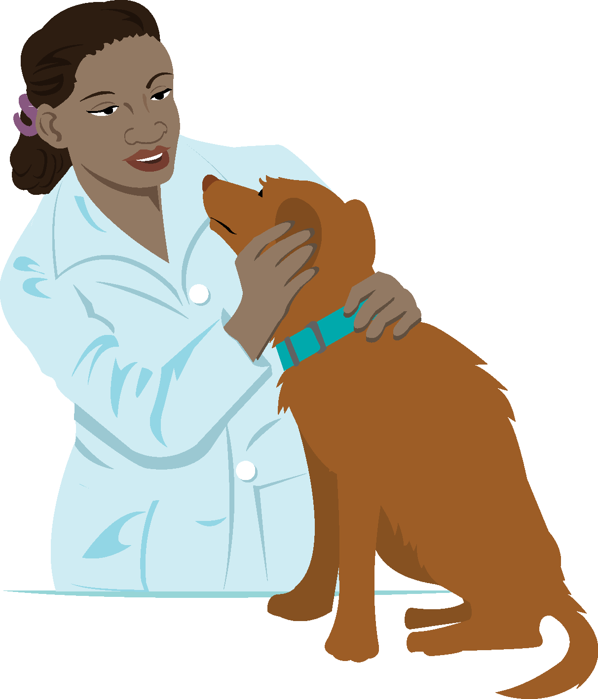 Girls veterinarian