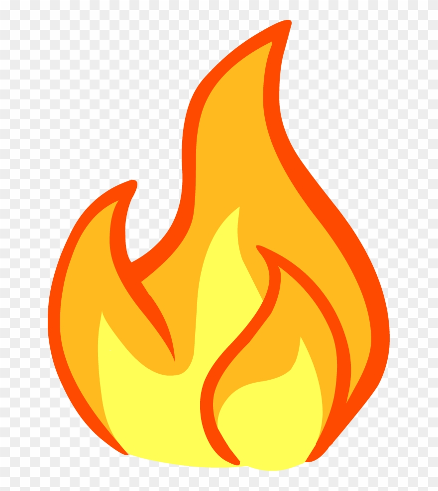 Fire png download . Flames clipart paper