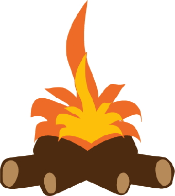 Clip art log . Clipart fire