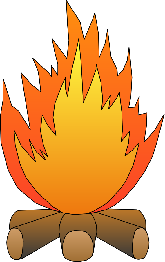collection of fire. Flame clipart blaze