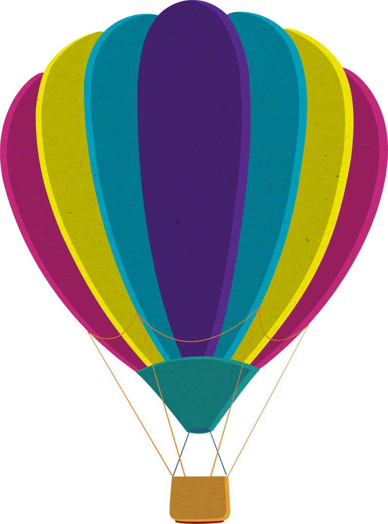 Purple clipart hot air balloon. Png images free download