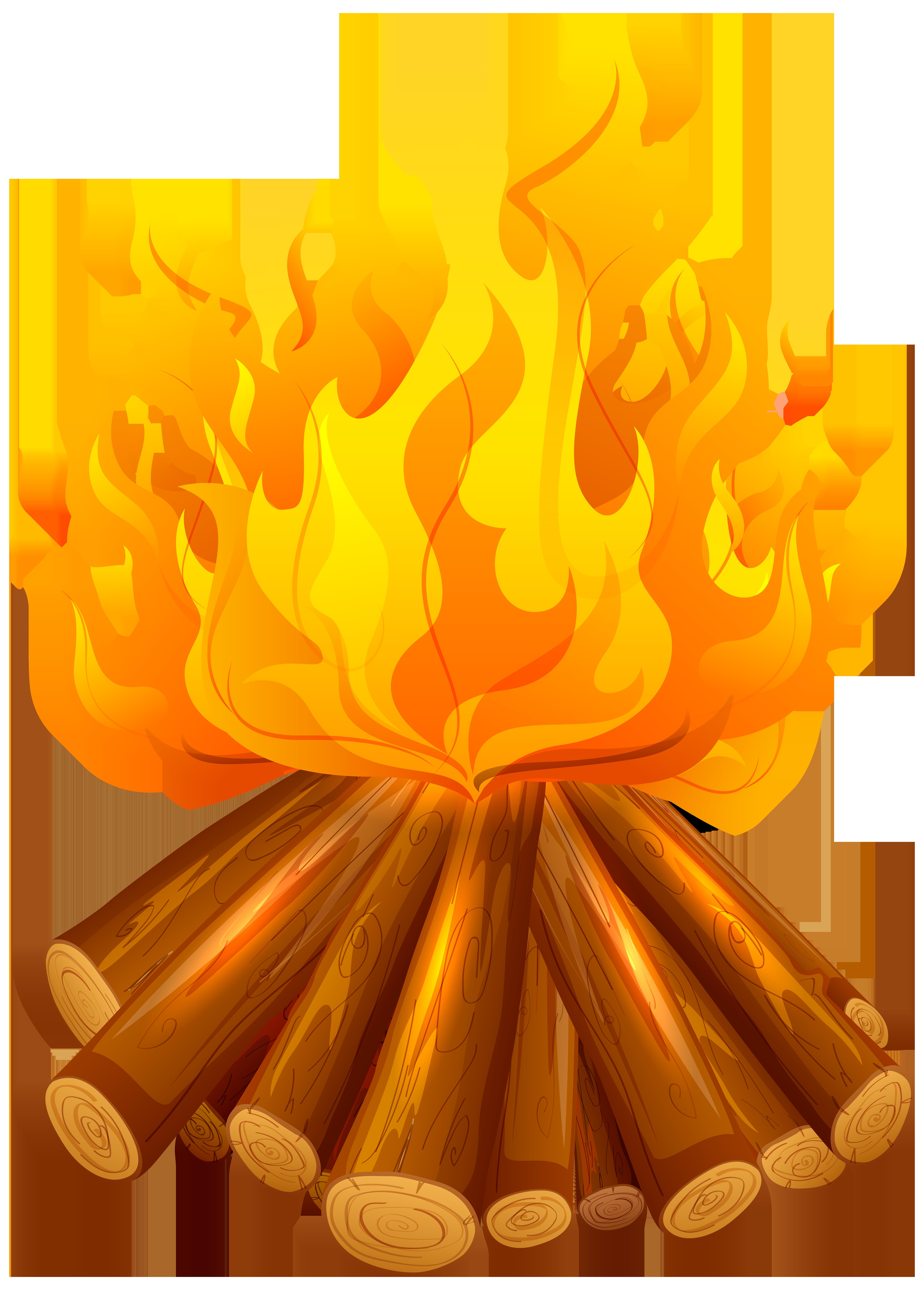 Fire clipart beach. Free png clip art
