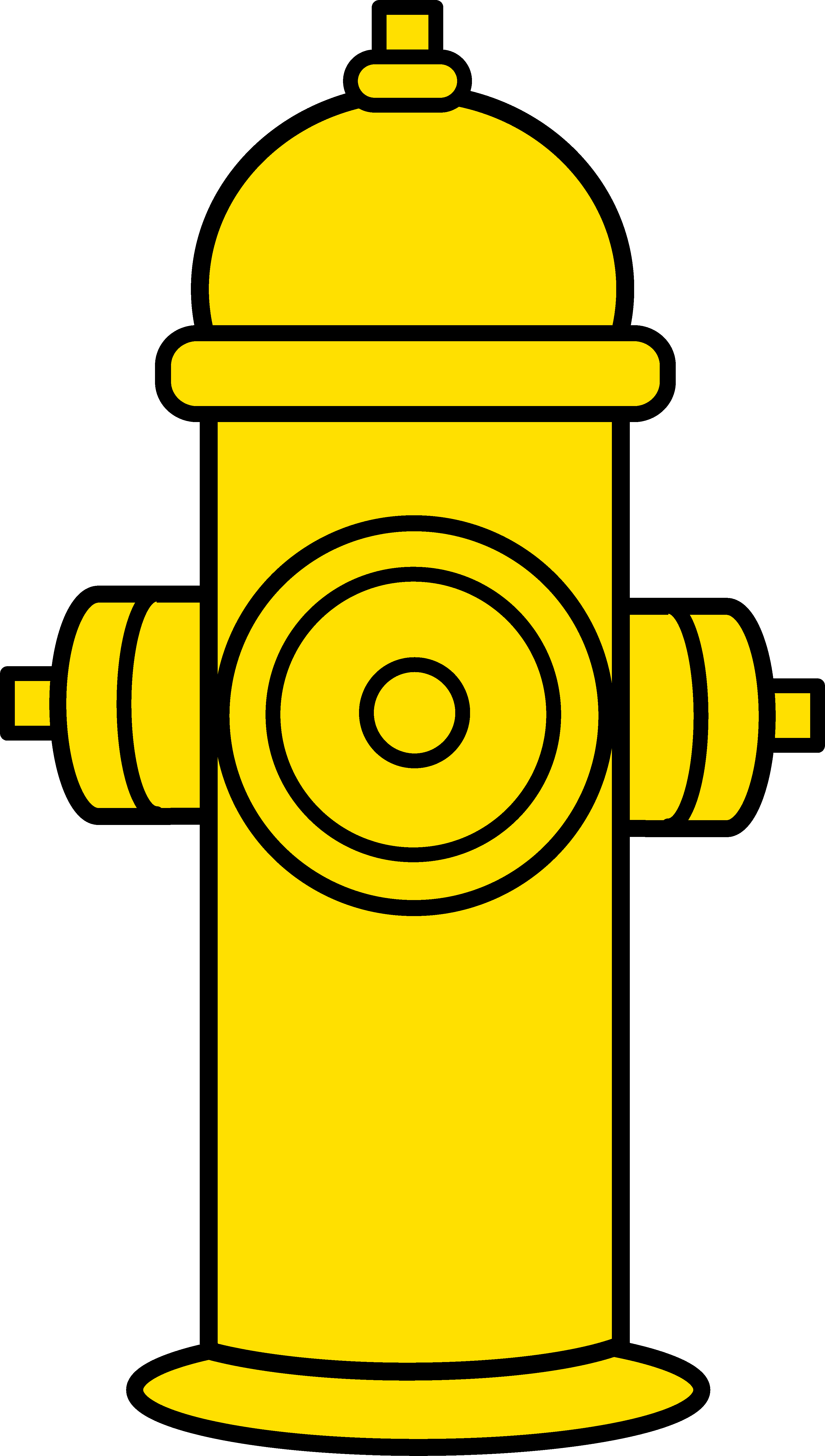 Flames clipart royalty free. Yellow fire hydrant