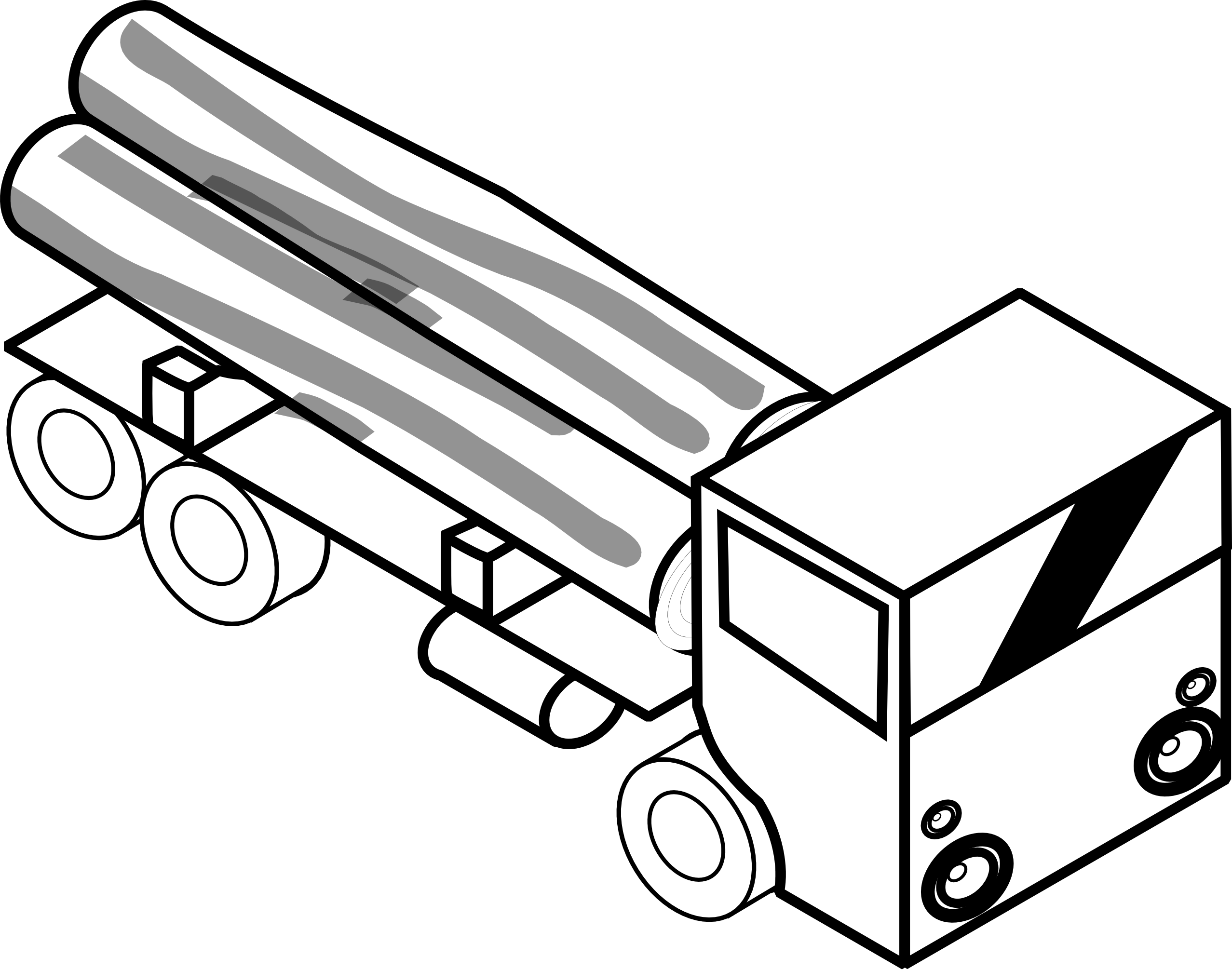 Truck black and white. Fire clipart ice