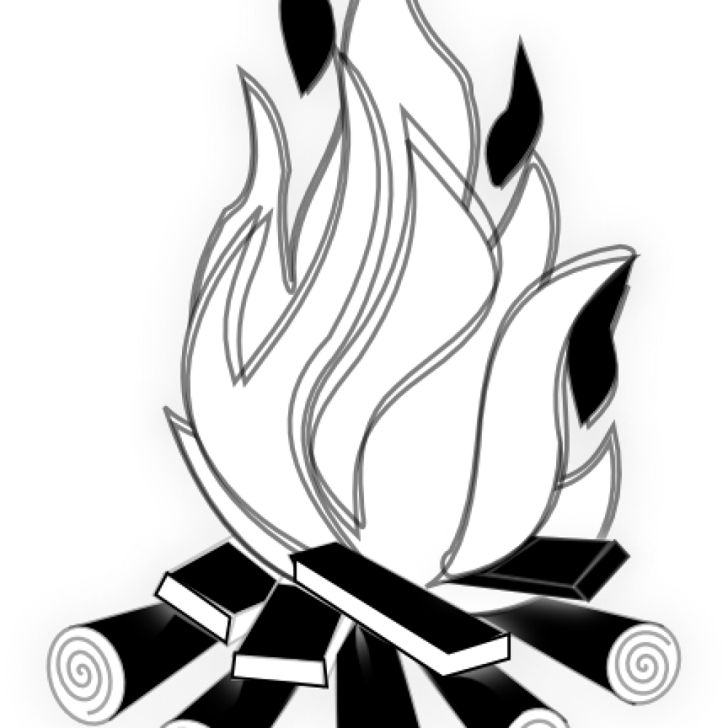 Clipart fire black and white. Valentines day hatenylo com